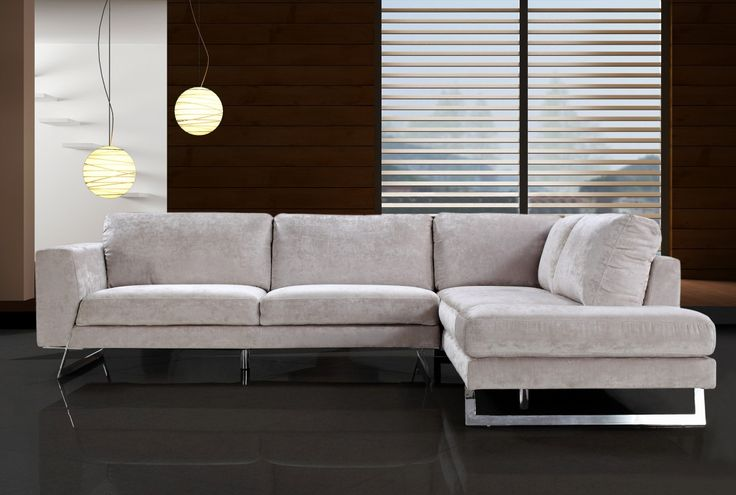 """Divani Casa Milano - Modern Fabric Sectional Sofa. Dimensions: Sofa: W81"""" x D37"""" x H32""""   Chaise: W92"""" x D37"""" x H32""""  Seat Height:18"""" Color: Other Finish:   -"""