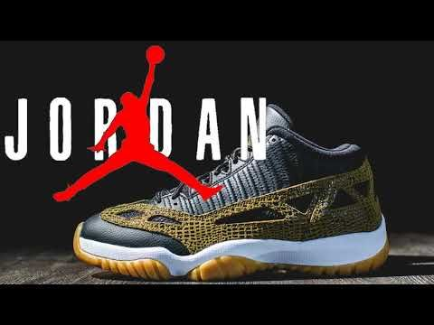 c966036d891 NIKE AIR Jordan 11 Retro Low Croc 306008 013 Snakeskin Black Green ...