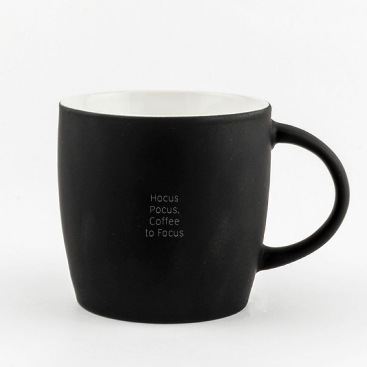 """Black Velvet Mug 18oz - You will want to add this ceramic mug to your collection. The exterior is hand sprayed with a black """"velvet"""" like finish. You will love the way it feels. Add an engraved message to make it extra special."""
