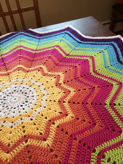 Free Crochet Afghan Patterns For Young Adults : Ravelry: Project Gallery for Rainbow Ripple Baby Blanket ...