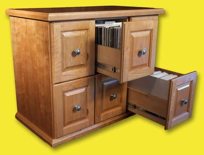 Awesome solution to comic book storage needs.  A piece of furniture like this would definitely look nicer than the cardboard boxes stacked in the basement corner.
