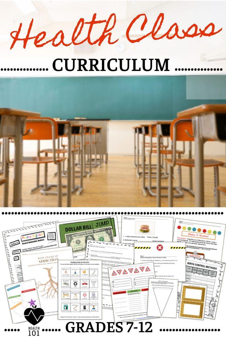 Health Curriculum: Full Year Health Education Lessons for 7th-12th Grade  Health   High school health [ 1104 x 736 Pixel ]