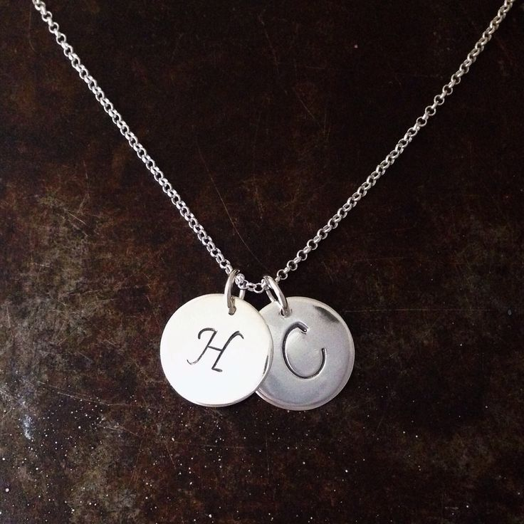 Sterling silver initials from BAKKA jewelry