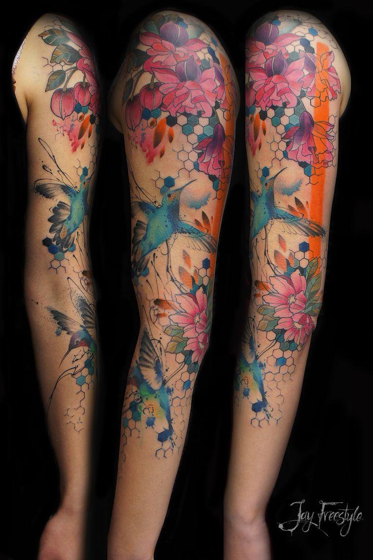 25+ best Watercolor tattoo sleeve ideas on Pinterest
