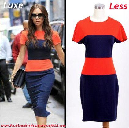 Victoria Beckham's Color Block Dress Look for Less