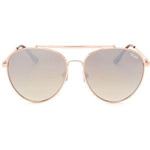 Quay Lickety Split Mirrored Aviator Sunglasses