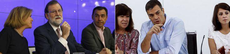 Rajoy y Sánchez están de acuerdo en impedir el referéndum con una respuesta proporcional al 1-O