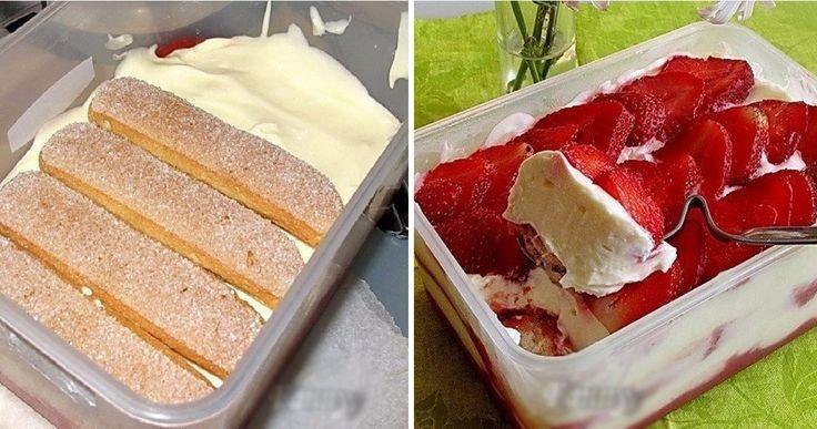 """""""Tiramisu"""" este un desert clasic foarte gustos, adorat de majoritatea dintre noi. Astăzi vă oferim rețeta de tiramisu cu căpșune, un deliciu irezistibil, ușor de preparat, fără coacere și foarte aromat. Combinația de mascarpone, frișcă și căpșune este demențială. Profitați din plin de fructe și preparați cel mai bun desert în acest sezon! INGREDIENTE 250 …"""