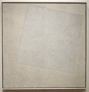 White on white. Kazimir Malevich. 1918. Oil on canvas. 79.4 cm × 79.4 cm.Museum of Modern Art, New York City