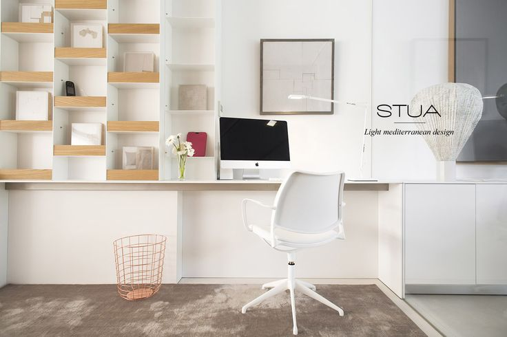 The perfect home office with STUA Gas swivel chair in white. GAS: www.stua.com/eng/coleccion/gas-swivel.html