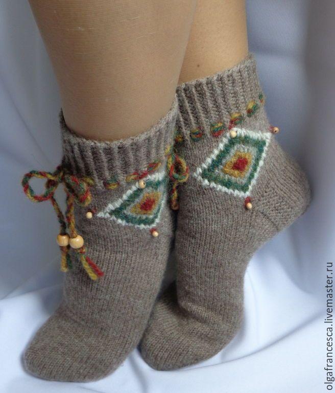 960769d46a44f гольфы, чулки, сапожки ручной работы. Носки вязаные шерстяные. Шерстяные  носочки «
