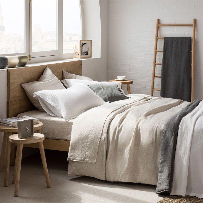 NATUREL LINNEN LAKENS EN SLOPEN - Bed - Linen - Shop by collection   Zara Home Holland