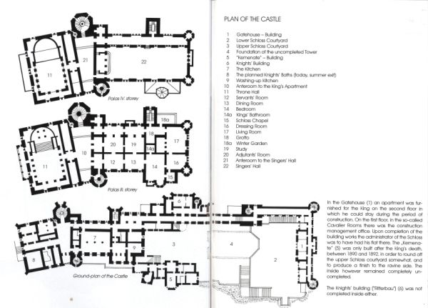 Floor plan neuschwanstein castle princess land for Castle design plans