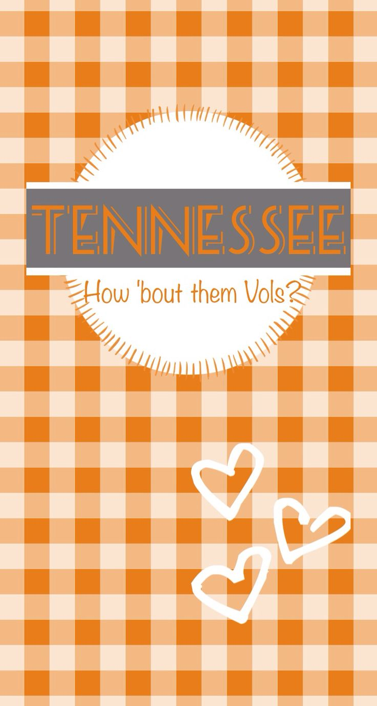 Tennessee volunteers go vols iphone wallpaper. Go big orange. #butchplease