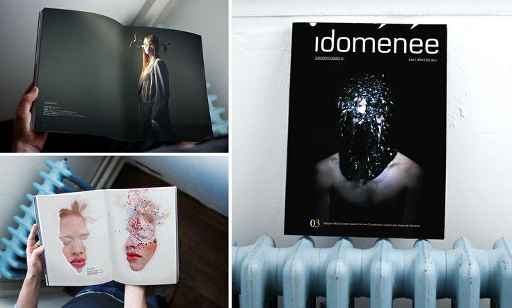 Réalisation de la direction artistique et de la mise en page du magazine d'art Idoménée.
