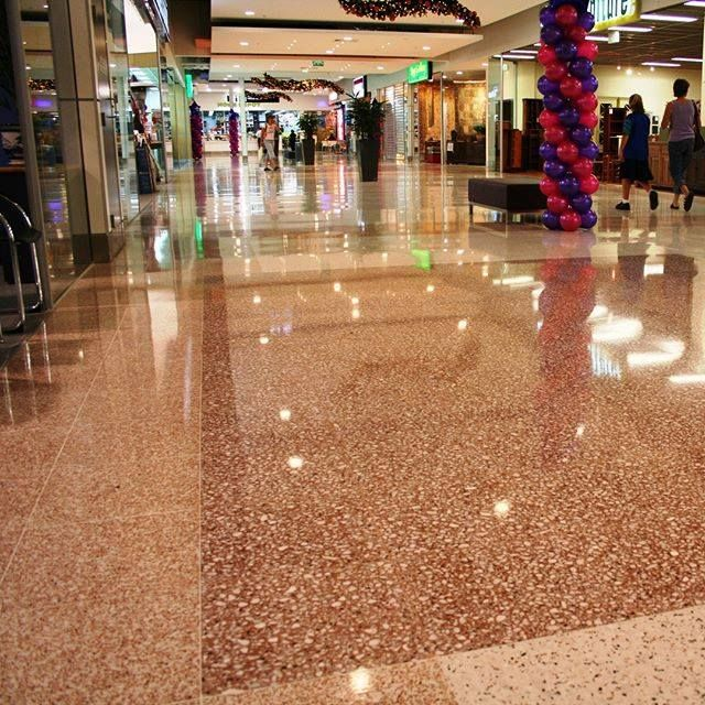 Terrazzo tiles are laid, grouted and machine polished on site. This creates a seamless floor with the grout level with the tile enabling easy daily maintenance. New processes have allowed this finish to achieve a non-slip texture suitable for R10 requirements.  #terrazzo, #terrazzoflooring, #precastterrazzo, #terrazzotiles, #terrazzomarble, #terrazzostone, #terrazzopartitions, #insituterrazzo, #terrazzosydney, #terrazzoaustralia