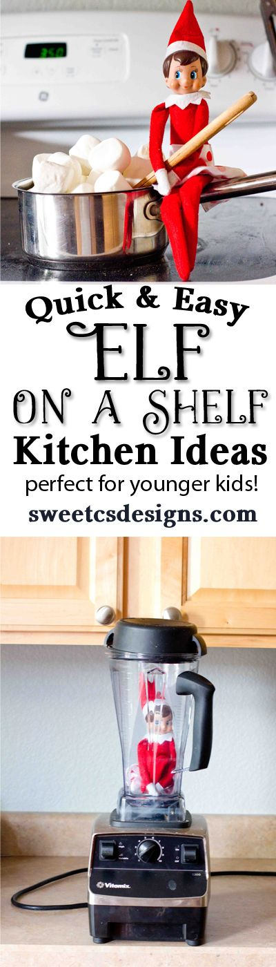 quick and easy elf on a shelf kitchen ideas that dont require a ton of cleanup! #holidayideaexchange