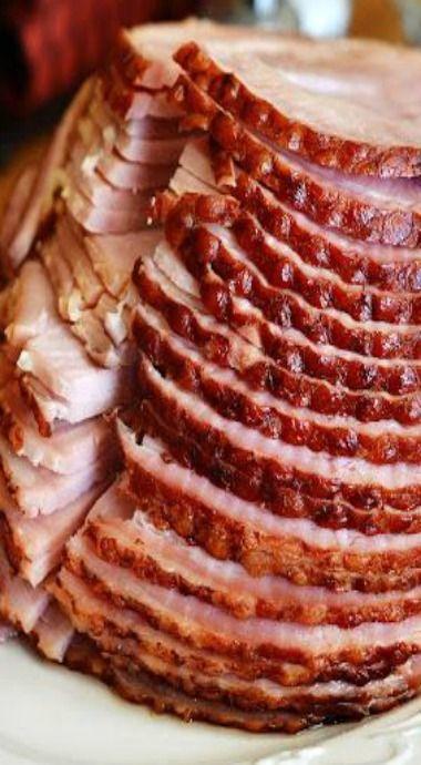 crock pot maple brown sugar ham. A great ham for Easter dinner!