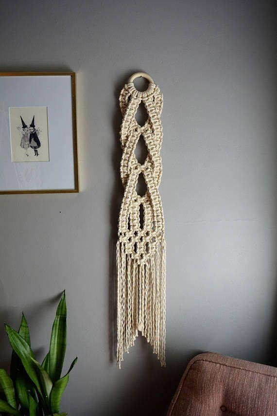 Kleine Makramee Wandbehang, gewebte Wandbehang, Wandbehang, moderne Makramee, Wandteppich, Fa…