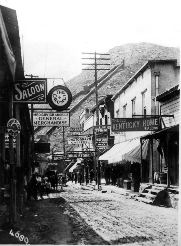 Brewery Gulch in Bisbee, Arizona, circa 1903.  This image is from the photograph collection of the Bisbee Mining & Historical Museum.  Discover more Bisbee, Arizona images and artifacts at www.facebook.com/BisbeeMuseum.  #bisbee  #arizona  #breweryGulch  #history
