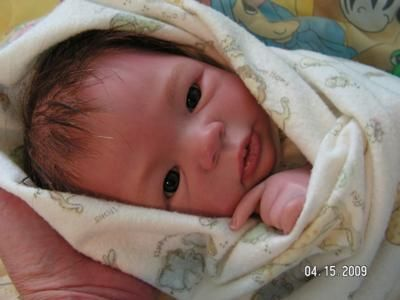 HOLY CRAP THIS IS A DOLL!!!! THIS IS WHAT I CALL ART!!   Sweet Reborn Colby, all ready to meet his mommy! This is the Morgan reborn doll sculpt by Aleina Peterson, from Bountiful Babies. He is 17 long, and such a handsome little man.  He has a combination of