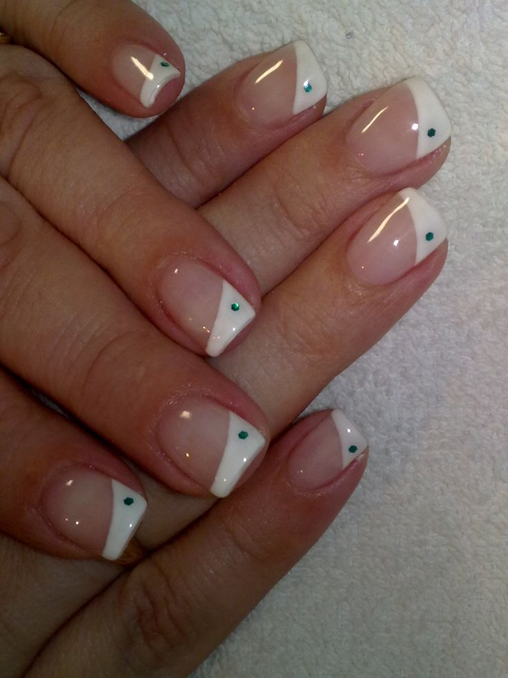 half white tips with a dot..these are adorable and so easy must try!!