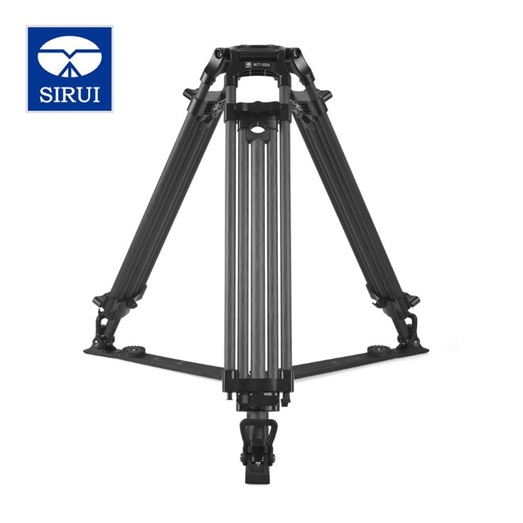 SIRUI BCT-3203 Film And Television Degrees Pro Camera Tripod Carbon Fiber Broadcast Video Tripod 3 Section DHL Free Shipping
