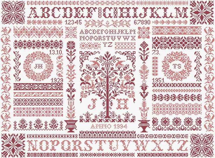 Tree of Life - My favourite Sampler of Jan Houtman, who died in 2007.