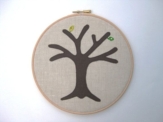 Cotton anniversary gift :  a perpetual wedding tree... add a new leaf for each year that you're married. Tailorbirds @ Etsy