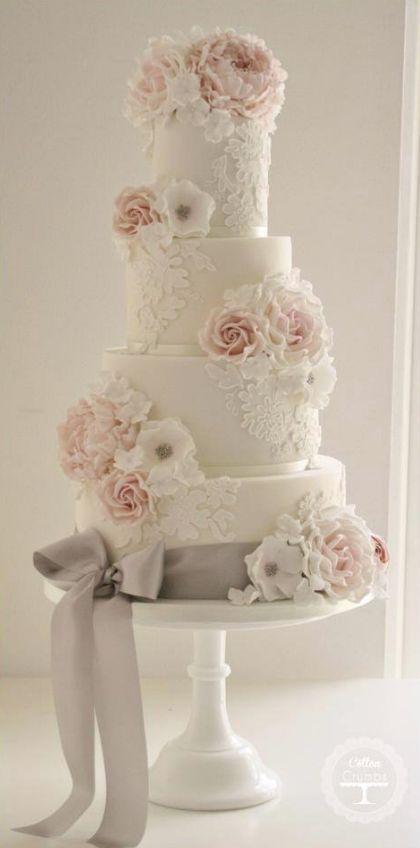 Empfohlener Kuchen: Baumwolle & Krümel; Hochzeitstorte Idee.   – Hochzeitstorten