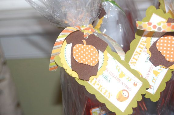 fall themed baby shower favor tag by beaspartydesigns on etsy