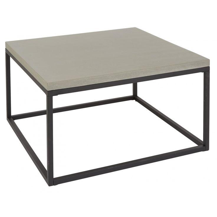 Köp - 3695kr! Accent soffbord 90 cm - Ljusgrå/ Svart. Accent soffbord med en stenskiva i ljusgrå betong och svart