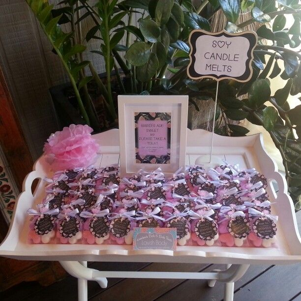 Baby Shower Favours The Wonderful Display Set Up Of
