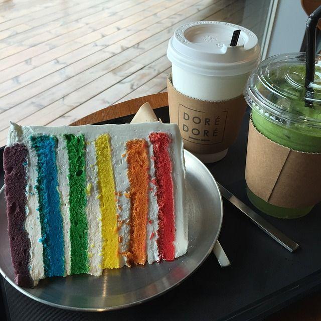 Rainbow Cake Recipe - AtoZFoodRecipes.com
