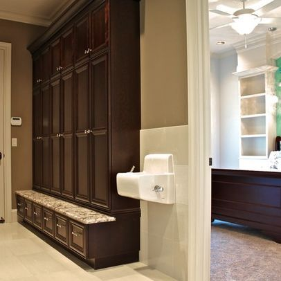 Drinking Fountain in mudroom - yes yes yes!