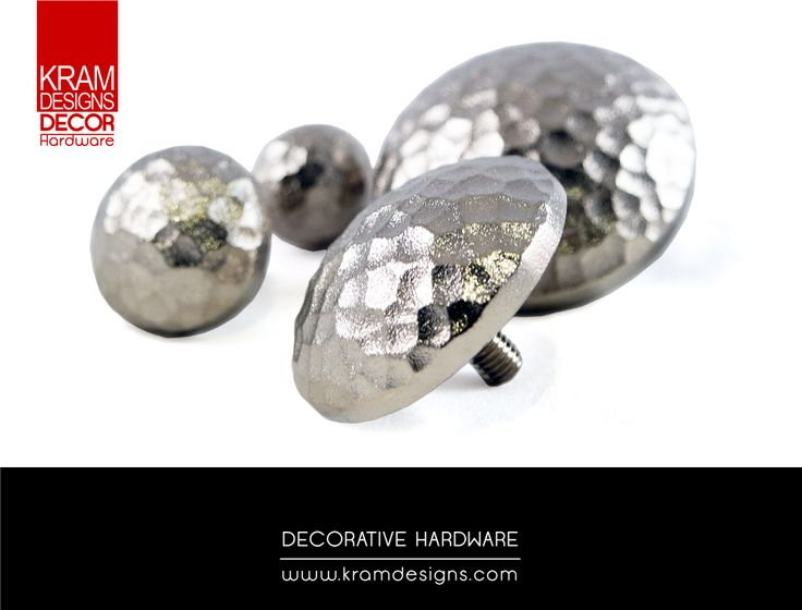 Nickel Plated Clavo collection from Kram Designs Decor Hardware.