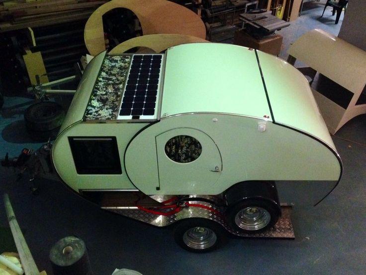 Gidget Trailer With Solar Panels. Gidget Retro Teardrop ...