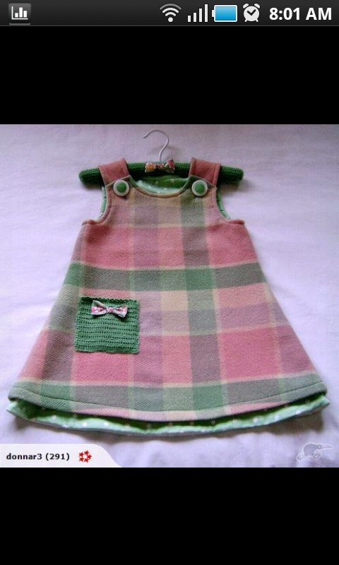 vintage NZ pure wool blanket + notions = child's winter weight dress.