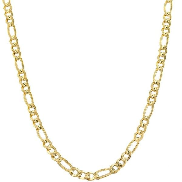 Fremada 14k Yellow Gold-filled Solid Figaro Link Chain Necklace ($66) ❤ liked on Polyvore featuring men's fashion, men's jewelry, men's necklaces, jewelry, necklaces, gold, mens long necklaces, mens gold necklace, mens figaro necklace and mens watches jewelry