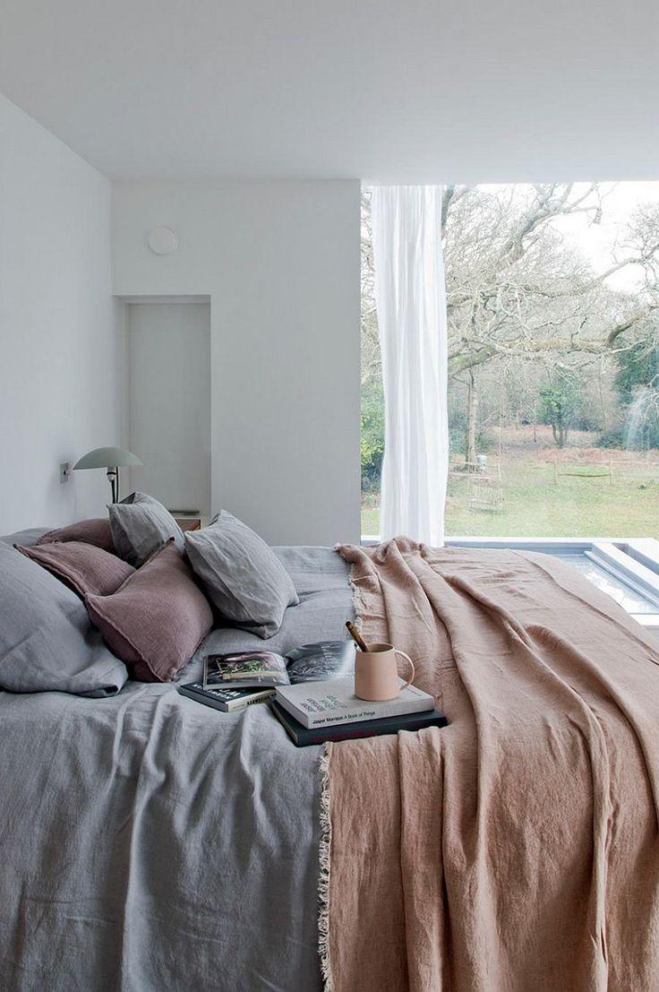 Cozy modern bedroom in white