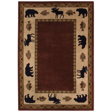Cottage Grove Machine-Woven Area Rug, Brown