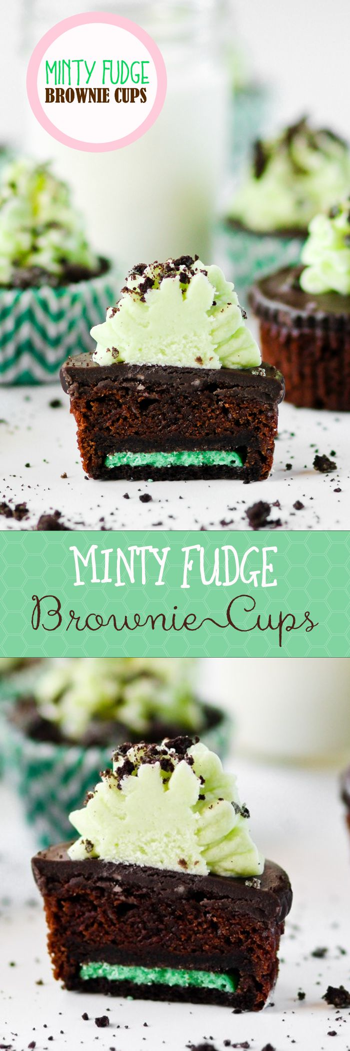 Minty Fudge Brownie Cups -- a must for mint/chocolate lovers!