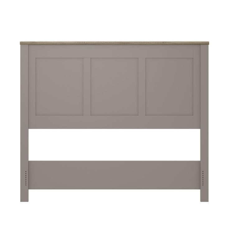 Carver Queen Size Headboard - Gray/Light Brown - Ameriwood Home