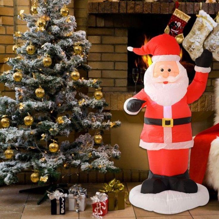 Inflatable Outdoor Christmas Decoration Winter Xmass Santa Claus Lighted Figure #InflatableOutdoorChristmasDecoration