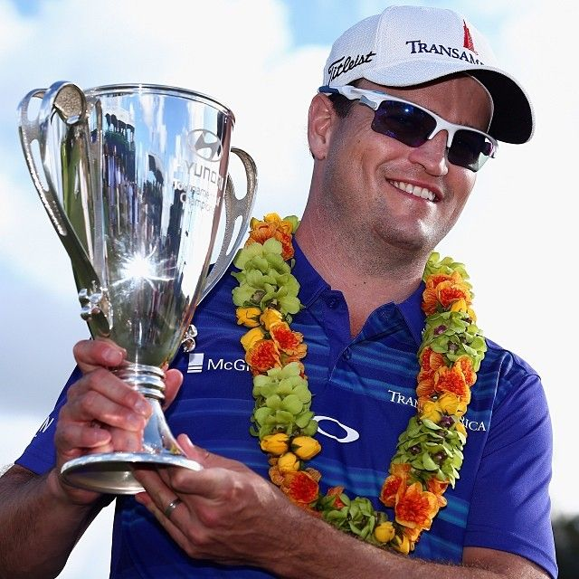 Zach Johnson charges out of the gate in January winning the 2014 Hyundai Tournament of Champions at Kapalua.