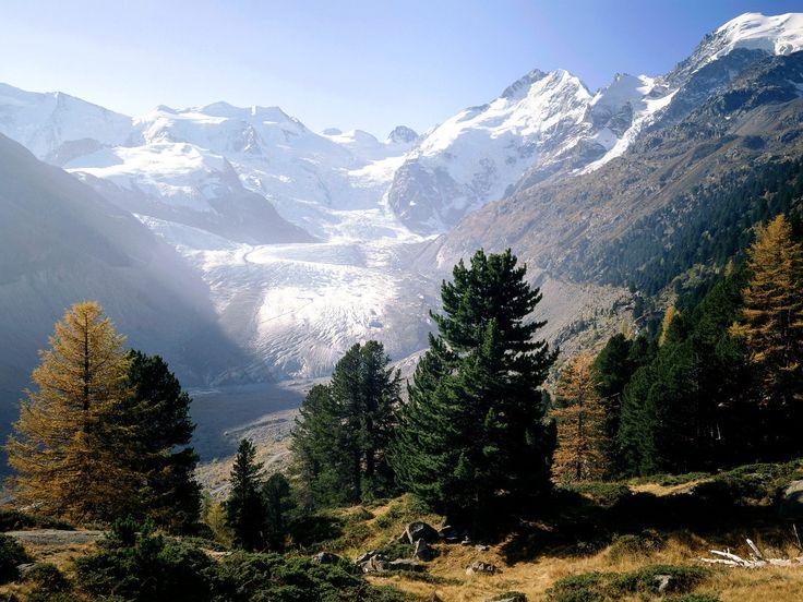 Piz Bernina, Moteratsch Glacier, Engadine, Switzerland - http://imashon.com/w/piz-bernina-moteratsch-glacier-engadine-switzerland.html