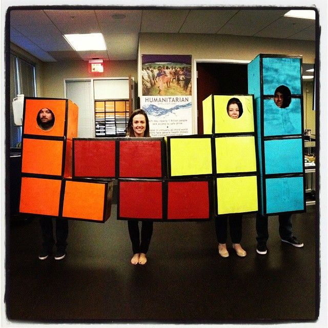 Stay connected with your social network IRL with this social media themed group costume!