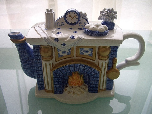 Fireplace teapot from England - $20 by ladeline28, via Flickr