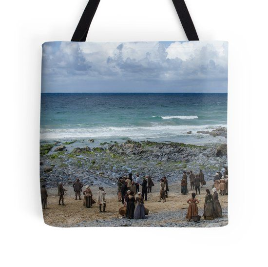The Cast of Poldark on the beach in Cornwall
