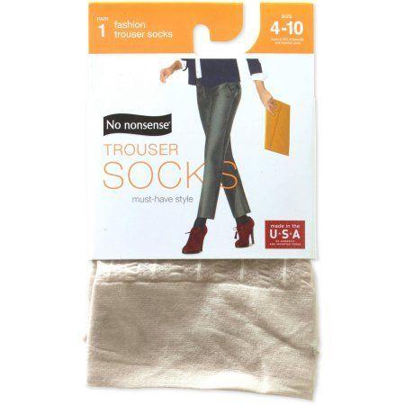 No nonsense Women's Sheer Stripe Latte Trouser Sock, Size: 4-10, Beige